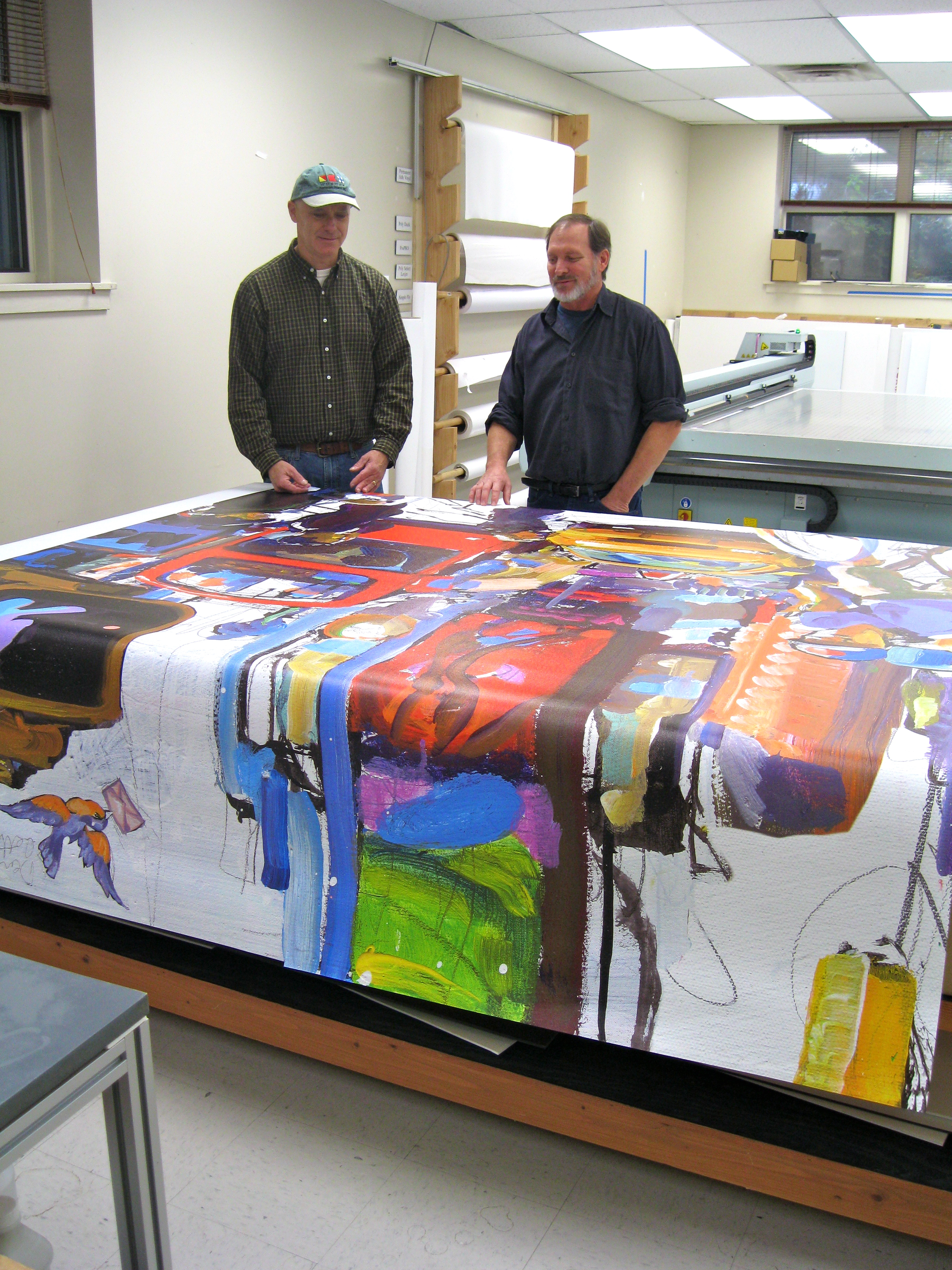 large format printed artwork for wall mounted mural