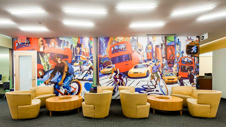 New York City mural at NYU Langone Medical Center