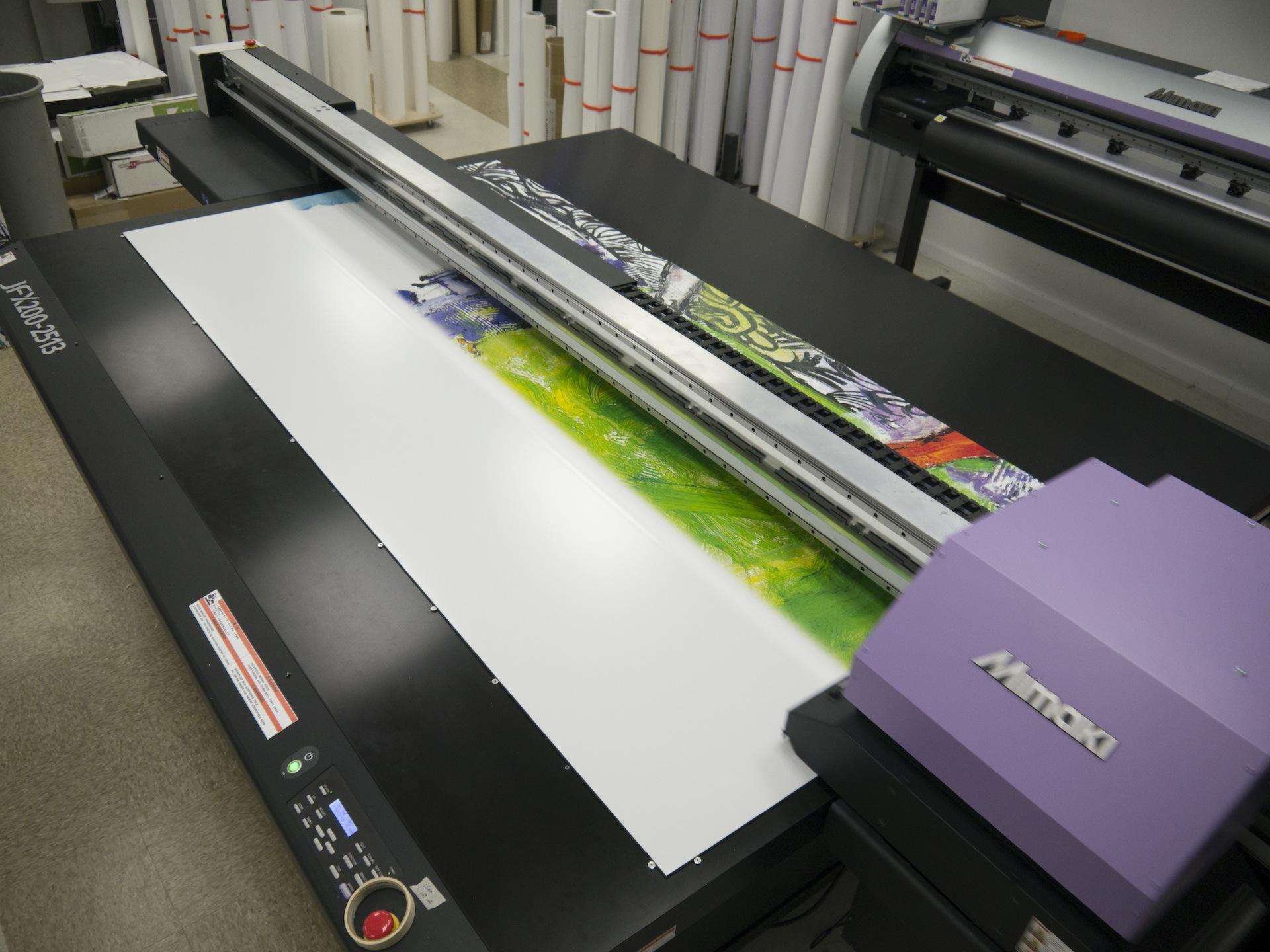 Printing 8 foot panels for mural.