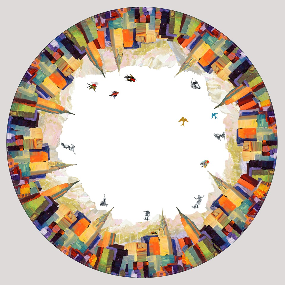 circular mural for cove ceiling